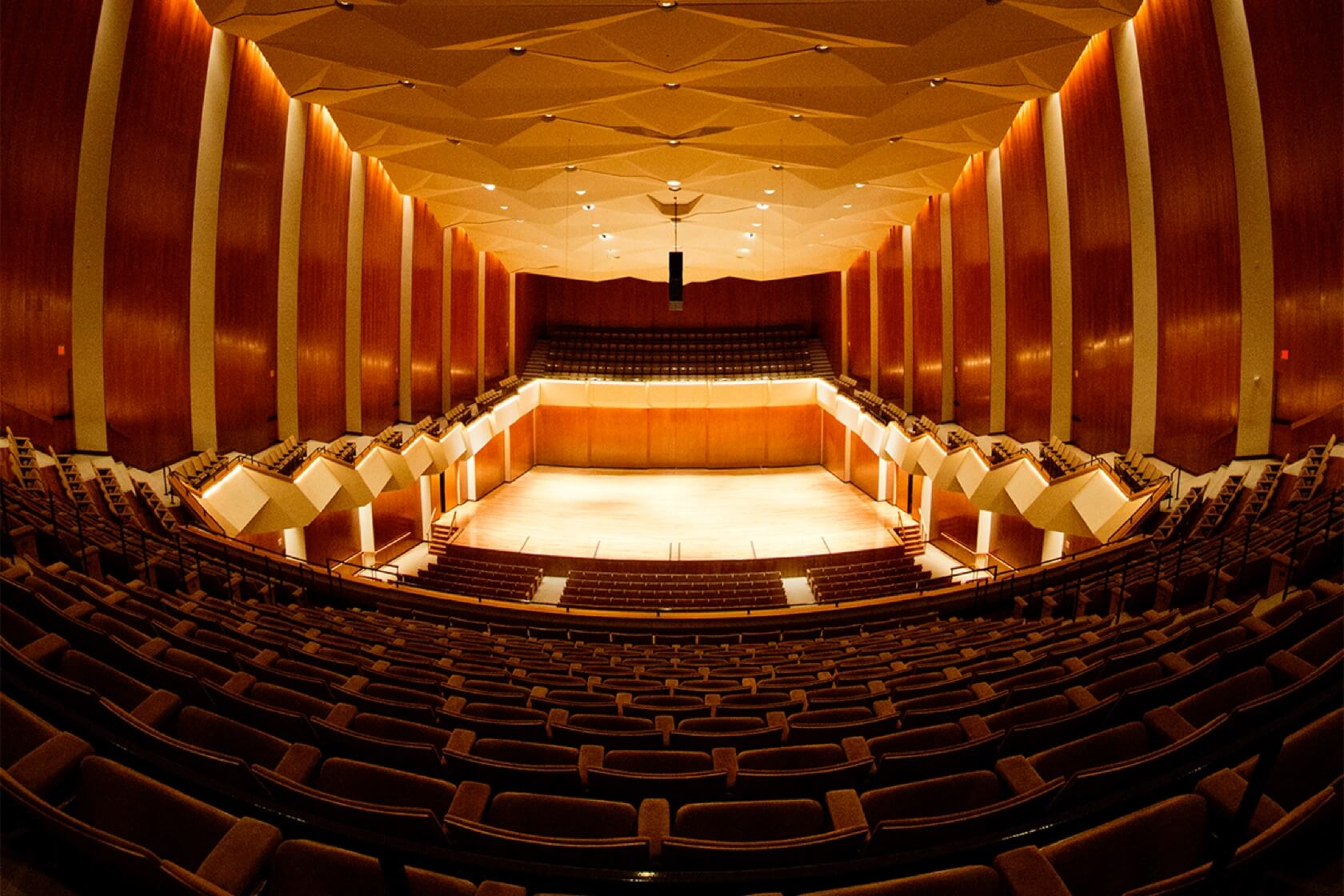 Interior of Krannert Theater for the Performing Arts