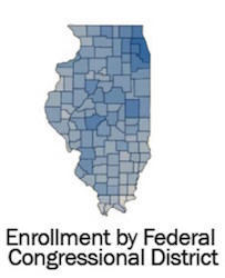 thumbnail image link for U of I Academic Enrollment by Federal Districts data