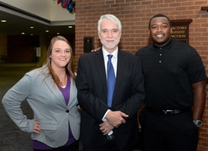 President-elect Killeen with UIS student leaders.