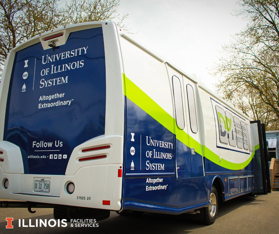 U of I System UI Ride shuttle bus