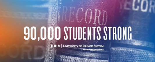 90,000 students strong graphic