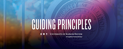 Guiding Principles with U of I shield image